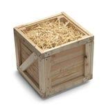 条板箱和秸杆 库存照片