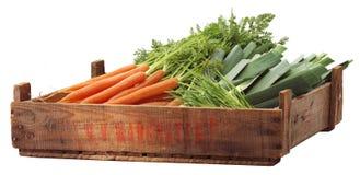 条板箱有机蔬菜 图库摄影