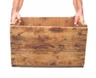 条板箱现有量查出老白色 免版税图库摄影