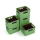 条板箱用储藏啤酒 免版税库存照片