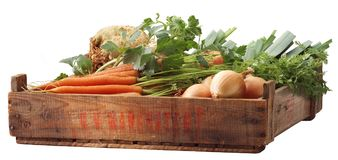 条板箱蔬菜 免版税库存照片