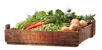 条板箱frech豌豆 库存图片