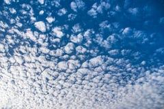 条纹云彩 库存图片