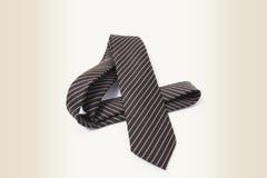 细条纹布料的领带 库存照片