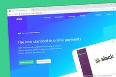 条纹网站 接受您的互联网事务的网上付款 皇族释放例证