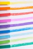 条纹绘与在纸的柔和的淡色彩 库存照片