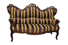 条纹巴洛克式的rokoko沙发 图库摄影
