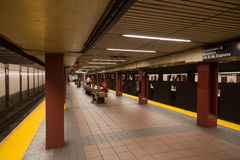 34条街道地铁站 库存照片