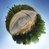 360条路全景 免版税库存照片