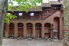 条顿人命令的城堡在马尔堡是在马尔堡附近,波兰镇位于的13世纪城堡  库存照片