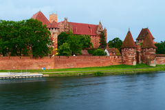 条顿人命令的中世纪城堡在马尔堡,波兰 免版税库存照片