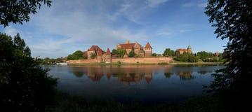 条顿人命令的城堡在马尔堡(Marienburg) 库存图片