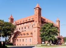 条顿人城堡在格涅夫,波兰 库存图片