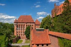 条顿人城堡的malbork 免版税库存图片