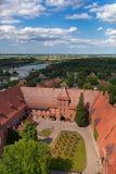 条顿人城堡的malbork 库存照片