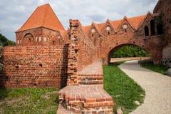 条顿人骑士城堡在托伦 库存图片