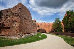 条顿人骑士城堡在托伦 免版税图库摄影