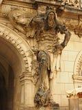 条顿人骑士雕象 免版税库存图片