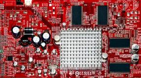 条频器电路板的片段 免版税库存图片