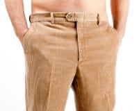条绒长裤 免版税库存图片