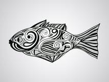 8条eps鱼查出的向量 免版税库存图片