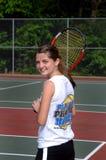 来作用网球 免版税库存照片