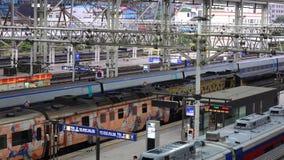 来到中央驻地的火车在汉城,韩国 影视素材