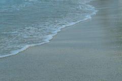 来到海滩的海 图库摄影