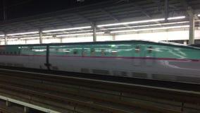 来到火车站的Shinkansen在富山,日本 股票视频