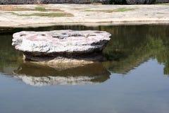 来回有历史的岩石 免版税库存照片