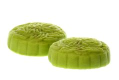 来回绿色中国Mooncakes 库存图片