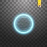 来回蓝色的框架 光亮的圈子横幅 隔绝在黑透明背景 也corel凹道例证向量 库存例证