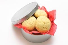 来回配件箱的曲奇饼 免版税库存图片