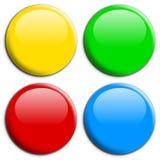 来回2个的按钮 免版税图库摄影