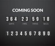来很快,轻碰读秒定时器盘区 向量例证