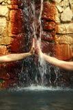 来源温泉热量水健康 免版税库存照片