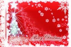 来自天堂的Christmastide树和光 库存例证
