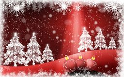 来自天堂的Christmastide树和光 向量例证