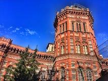 来自19世纪80年代的红色城堡 免版税库存照片