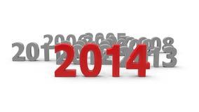 来临的2014 向量例证