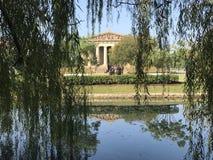 杨柳的帕台农神庙在纳稀威田纳西 库存图片