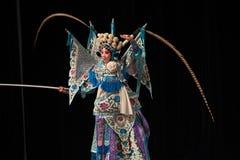 """杨Family†的黑人背景北京Opera""""妇女将军 库存照片"""