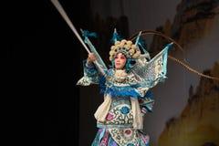 """杨Family†的典雅的枪法北京Opera""""妇女将军 免版税库存图片"""
