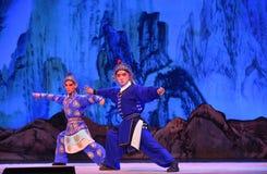 """杨Family†的开创者北京Opera""""妇女将军 免版税库存照片"""
