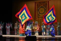 """杨Family†的旗子振翼的北京Opera""""妇女将军 免版税图库摄影"""