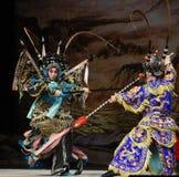"""杨Family†的锋利的枪法北京Opera""""妇女将军 免版税库存图片"""