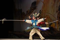 """杨Family†的年轻法警杨Zongbao-北京Opera""""妇女将军 免版税库存图片"""