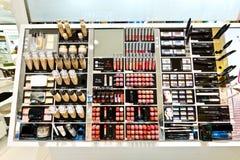 杭州化妆用品商店显示产品 库存照片