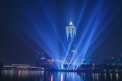 杭州在晚上 免版税库存图片