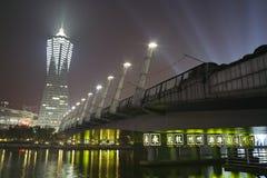 杭州在晚上 免版税库存照片